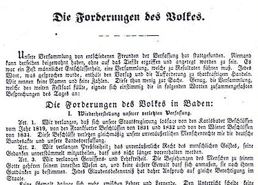 Mannheimer Petition (Märzforderungen)