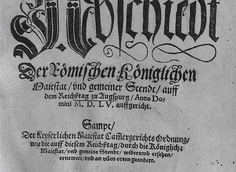 Augsburger Religionsfrieden