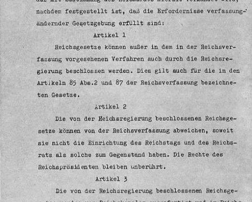 Ermächtigungsgesetz 1933