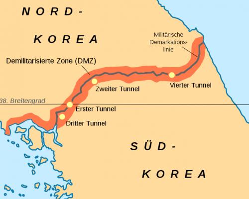 38. Breitengrad Nordkorea Südkorea