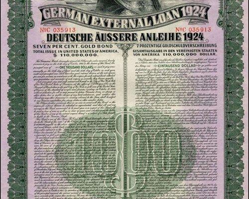 Mithilfe des US-amerikanischen Dawes-Plans wurde die deutsche Wirtschaft über Hilfskredite stabilisiert