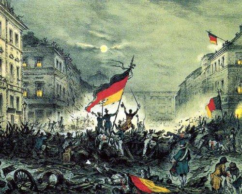"""Die Barrikadenkämpfe der Märzrevolution 1848 stürzten die Macht der deutschen Fürsten. Sie versprachen Reformen und beriefen liberale """"Märzminister"""" ein"""