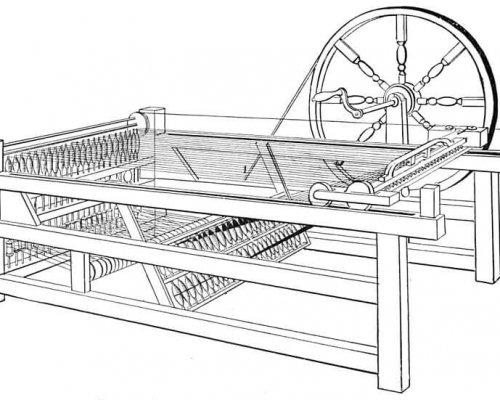 Skizze der Spinnmaschine