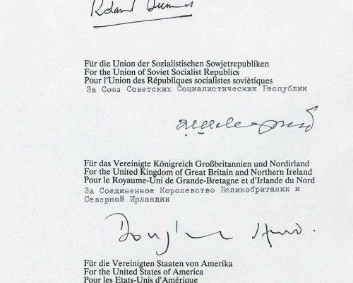 Text des Zwei-plus-Vier-Vertrags