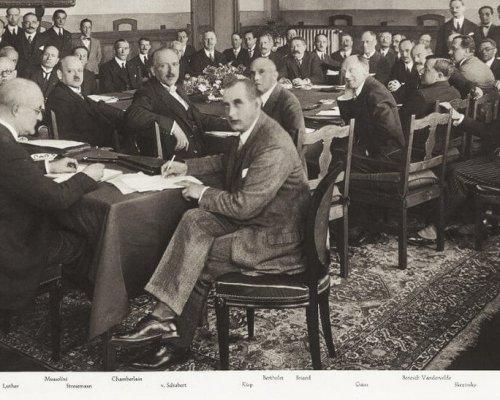 Verträge von Locarno, Unterzeichnung