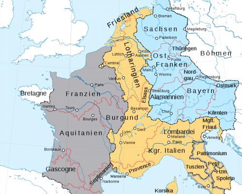 Karte Vertrag von Verdun