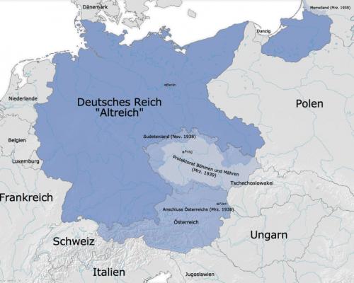 Karte Sudetenland