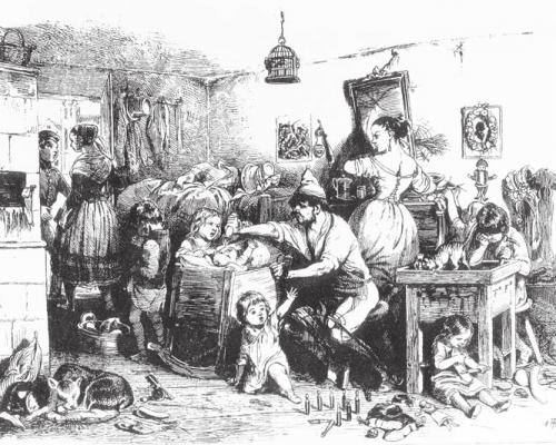 Marx lehrte, dass die lohnabhängige Arbeiterschaft (Proletariat) von den bürgerlichen Unternehmern mit Billiglöhnen ausgebeutet werden würde