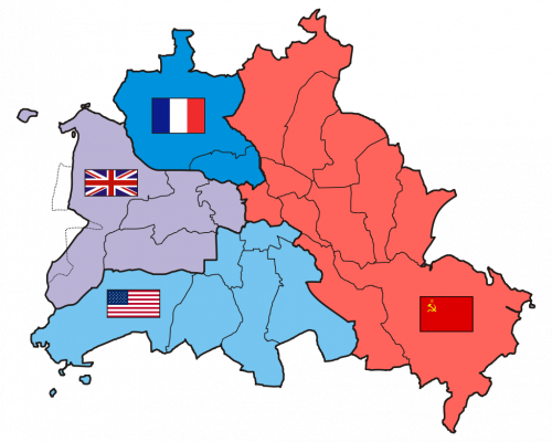 Karte vier Sektoren Berlins