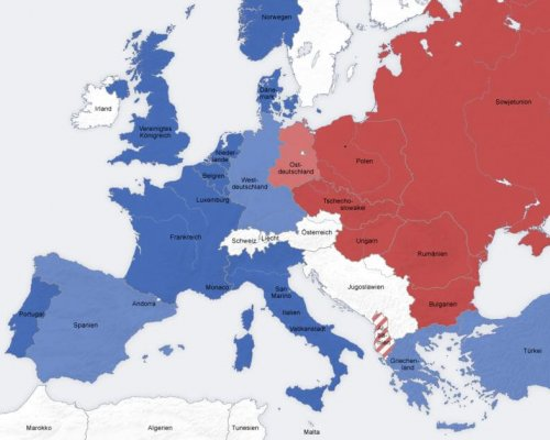 Bündnisse im Kalten Krieg, Karte