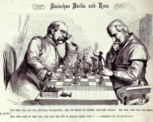 Karikatur, Bismarck und Papst Pius IX.
