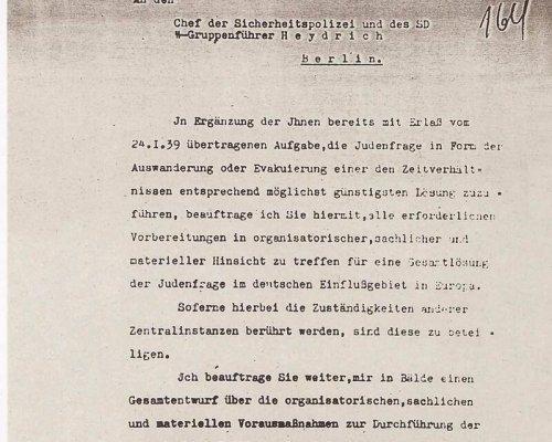 Endlösung Judenfrage Text