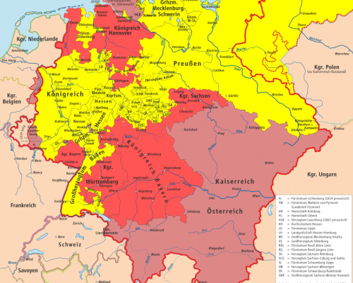 Karte Erfurter Union 1849/50