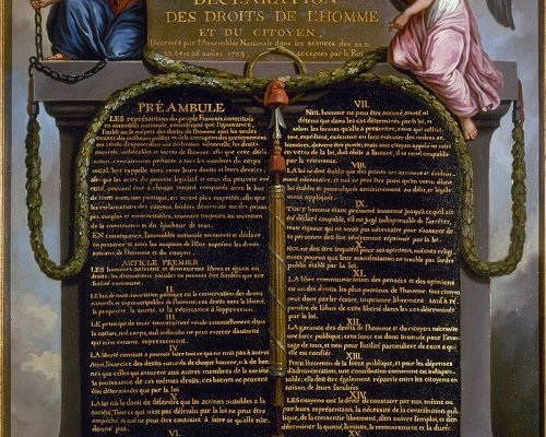 """Am 26. August 1789 verabschiedete die französische Nationalversammlung die """"Erklärung der Menschen- und Bürgerrechte"""""""
