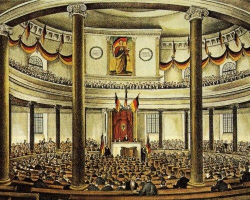 Politische Gruppen 1848 in der Nationalversammlung