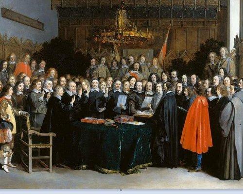 Im Westfälischen Frieden (1648) einigten sich Europas Herrscher auf das Ende des Dreißigjährigen Kriegs
