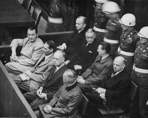 NS-Hauptkriegsverbrecher bei den Nürnberger Prozessen