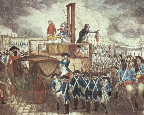 Hinrichtung von König Ludwig XVI. an der Guillotine