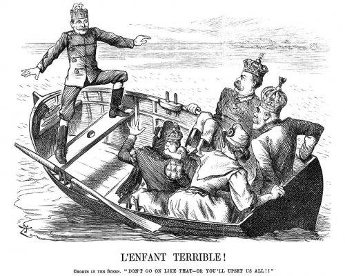 "arikatur ""L'enfant terrible!"" von John Tenniel"