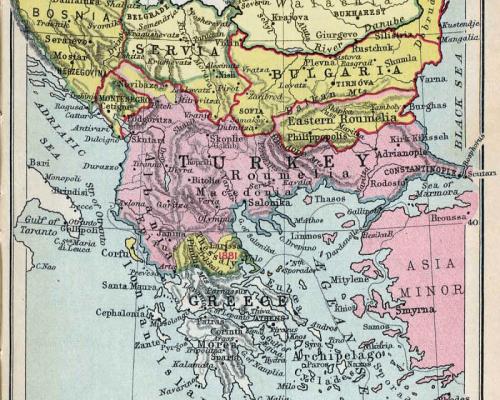 Karte Balkankrise