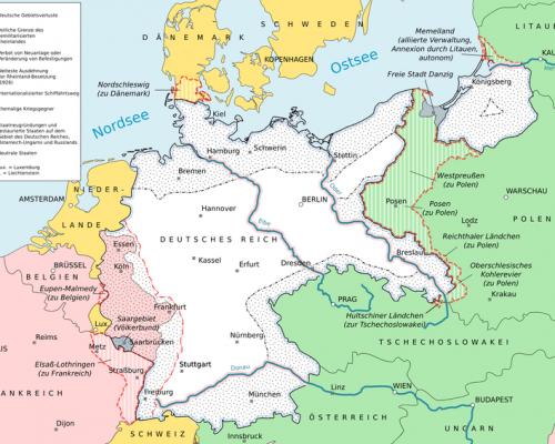 Gebietsabtretungen Deutschlands 1919, Versailler Vertrag