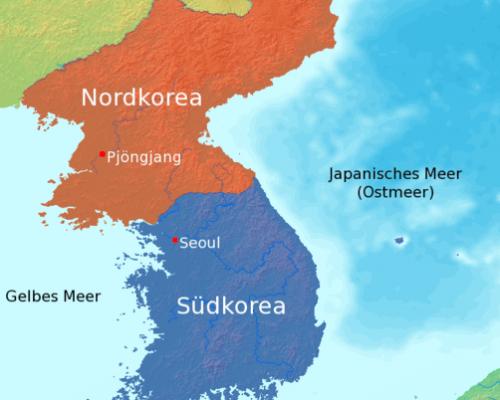 Seit 1948 ist Korea in die zwei Staaten Nordkorea und Südkorea geteilt