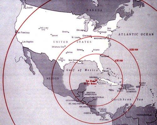 Karte Kuba-Krise 1962