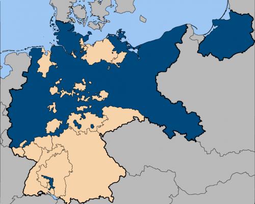 Karte Preußens im Deutschen Reich