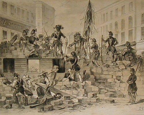 Barrikadenkämpfe 1848