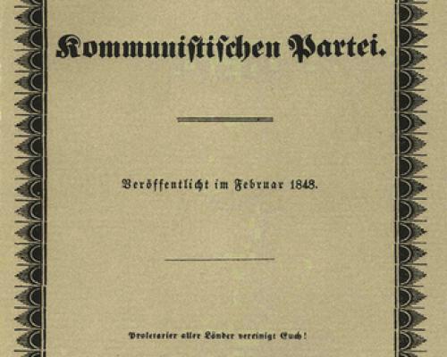 Manifest der Kommunistischen Partei von Marx und Engels