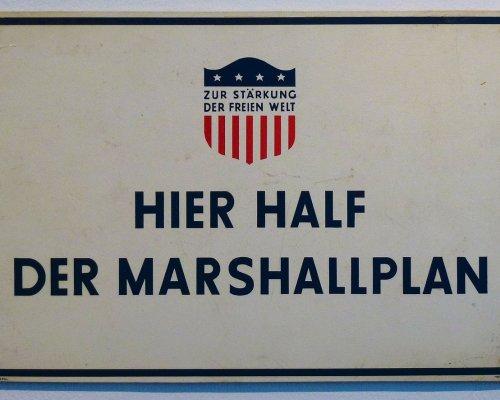 Hier half der Marshallplan