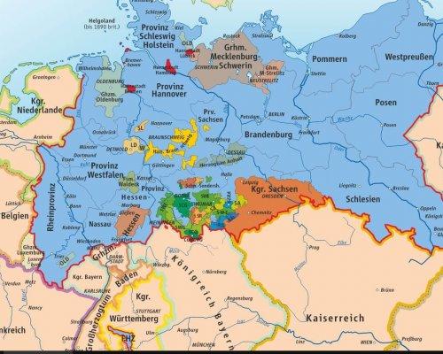 Norddeutscher Bund Karte