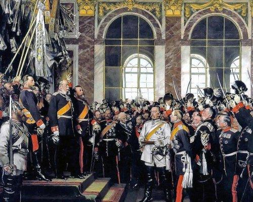 Reichsgründung 1871, Gemälde von Anton von Werner (1885)