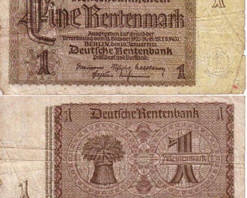 Rentenmark Geldscheine 1923