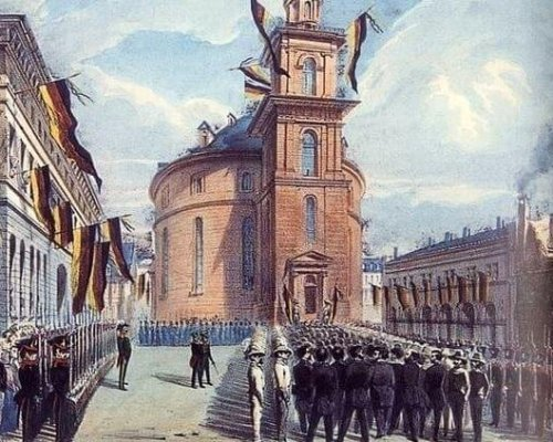 Paulskirche in Frankfurt, 1848