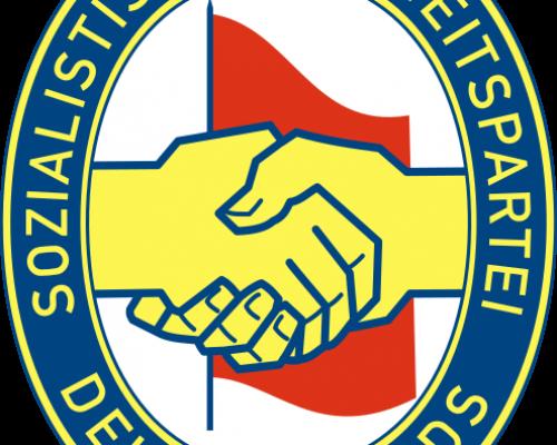 Logo der SED in der DDR