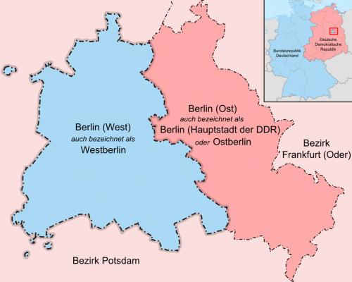 karte des geteilten Berlins