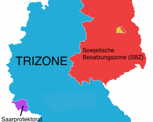Karte des geteilten Deutschlands seit 1949