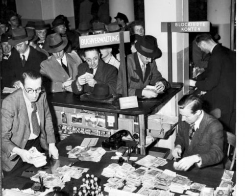 Währungsreform 1948, Umtauschstelle