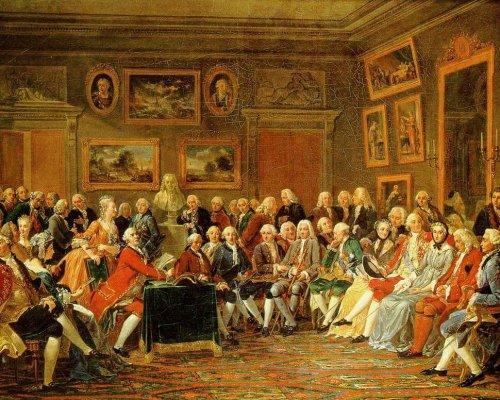 Das Zeitalter der Aufklärung war die geistige Grundlage der Französischen Revolution, indem sich Philosophen in Lesegesellschaften über ihre neuen Ideen austauschten
